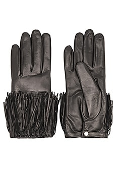 Diane von Furstenberg Fringe Leather Glove in Black
