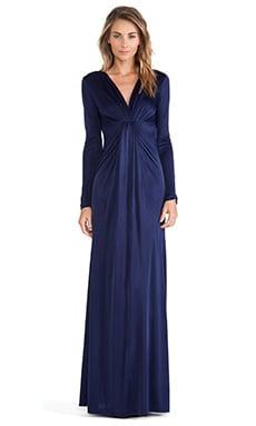 Diane von Furstenberg V Neck Gown in Ink