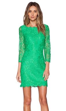 Diane von Furstenberg Zarita Mini Dress in Spring Green