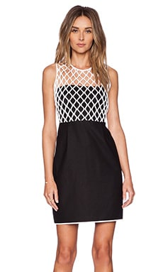 Diane von Furstenberg Leonora Dress in Black & White