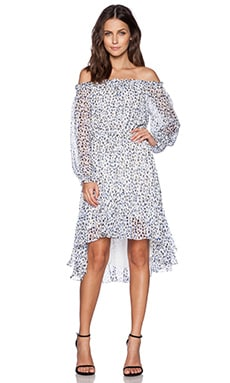 Diane von Furstenberg Camila Dress in Animal Paint Tiny