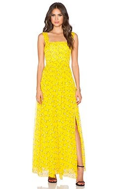 Diane von Furstenberg Lillie Chiffon Dress in Sunglight Yellow