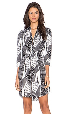 Diane von Furstenberg Freya Dress in Ethnic Collage