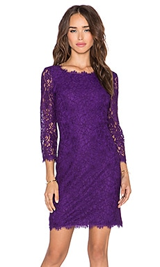 Diane von Furstenberg Zarita Dress in Royal Purple