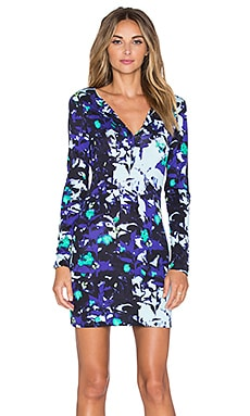 Diane von Furstenberg Reina Dress in Ink Lagoon Blue