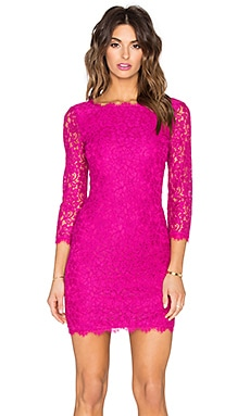 Diane von Furstenberg Zarita Lace Dress in Hot Orchid