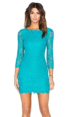 Diane von Furstenberg Zarita Lace Dress in Blue Lagoon