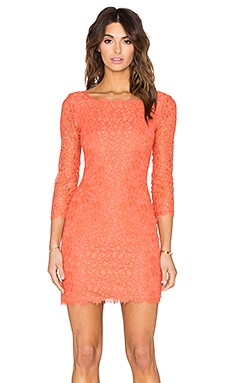 Diane von Furstenberg Zarita Lace Dress in Coralline