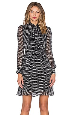 Diane von Furstenberg Arabella Dress in Dotted Batik Tiny Black