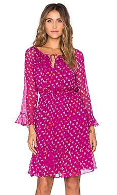 Diane von Furstenberg Simonia Dress in Daisy Buds Tiny New Beet
