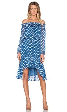 Diane von Furstenberg Camila Dress in Dotted Batik Blue