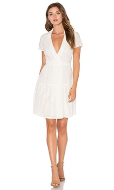 Kaley Two Eyelet Dress in Ivory
