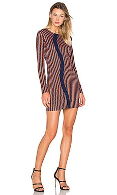 Diane von Furstenberg Haydyn Dress in Rickrack Khaki & Midnight