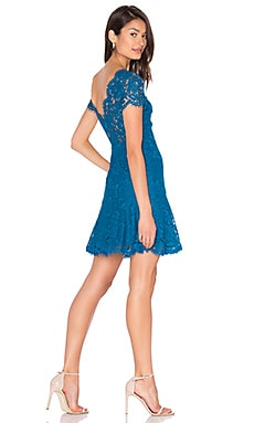Fifi Lace Dress en Bleu Paon