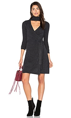 Janeva Wrap Dress in Charcoal