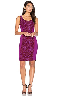 Geovanna Lace Dress in Purple Amethyst & Red Onyx
