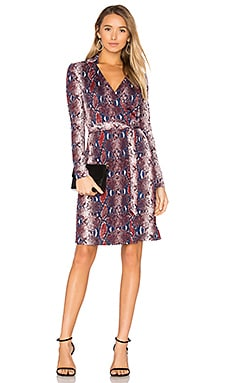Jeannae Wrap Dress in Tissera French Blue