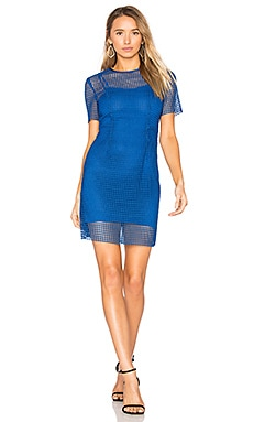 Chain Lace Dress em French Blue