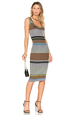 Knit Midi Dress em Alexander Navy Multi