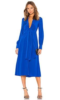 Купить Платье миди plunge knot - Diane von Furstenberg, Миди, Китай, Королевский синий