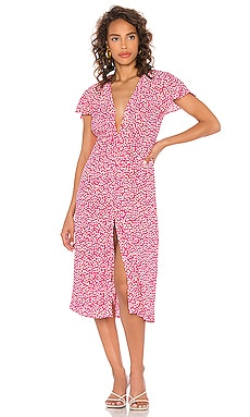 Cecilia Midi Dress Diane von Furstenberg $348 NEW
