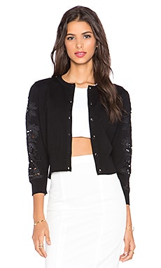 Diane von Furstenberg Doris Cardigan in Black