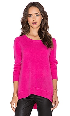 Diane von Furstenberg Kingston Cashmere Sweater in Hot Flamingo