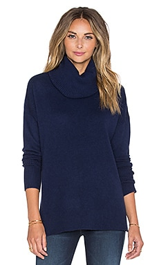 Diane von Furstenberg Ahiga Slim 2 Cashmere Turtleneck Sweater in Midnight