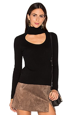 Diane von Furstenberg Gracey Turtleneck Sweater in Black