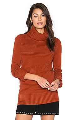 Talassa Turtleneck Sweater in Carnelian