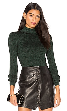 Tess Metallic Sweater in Black & Green