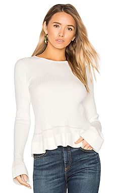 Peplum Sweater in Ivory