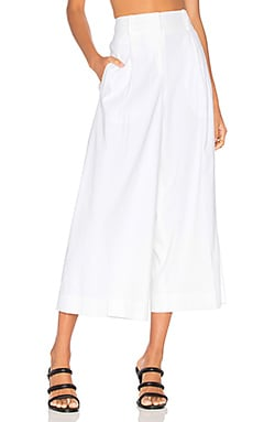 High Waist Culotte in White