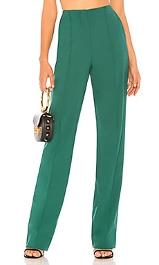 Купить Брюки pleat front - Diane von Furstenberg зеленого цвета