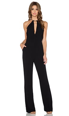 Diane von Furstenberg Ireland Jumpsuit in Black