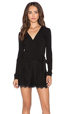 Diane von Furstenberg Tillie Lace Short Romper in Black
