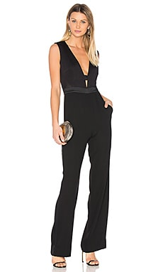 Kyara Tux Jumpsuit in Black