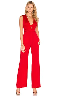 Kyara Tux Jumpsuit in Red