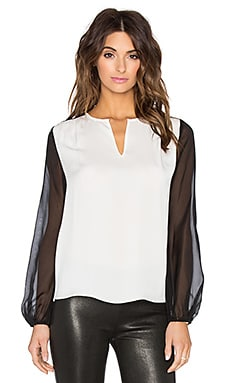 Diane von Furstenberg Nikki Top in Ivory & Black