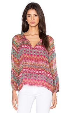 Diane von Furstenberg Parry Top in Coromandel Multi
