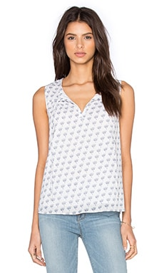 Diane von Furstenberg Rissa Tank in White & Midnight