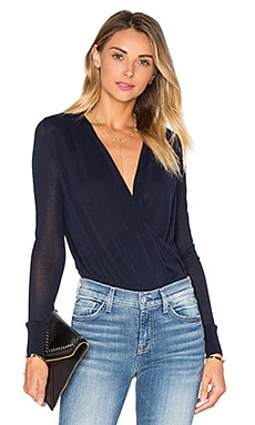 Diane von Furstenberg Paz Top in Midnight