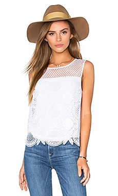 Lila Spiral Lace Tank in White
