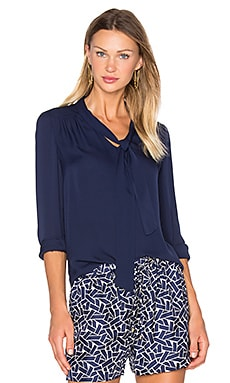 Diane von Furstenberg Britni Top in Midnight