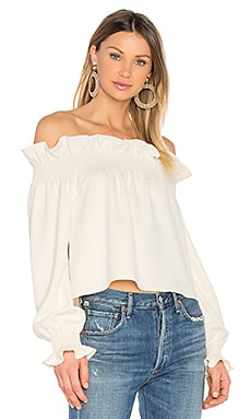Georgie Top in Canvas White