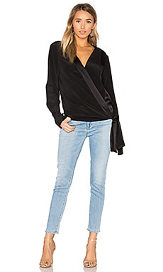 Cross Front Blouse in Black