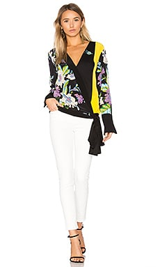 Cross Over Blouse in Curzon Black, Ceres Black & Mim Yellow