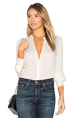 Deep V Button Up in Ivory
