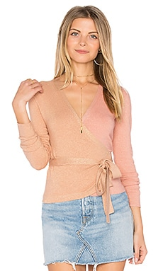 Wrap Top in Nectar & Dusty Rose
