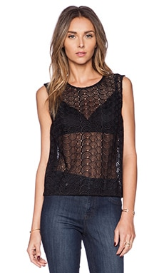 Diane von Furstenberg Betty Top in Black